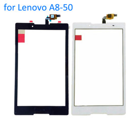 Wholesale Lenovo Glass Screen Replacement - Wholesale- ALANGDUO for Lenovo TAB 2 A8-50 A8-50F A8-50LC Tablet Touch Screen Digitizer Glass Front Panel Replacement Touchscreen Window