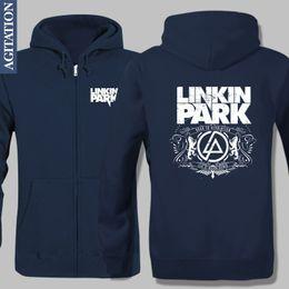Wholesale Heavy Fleece Jacket - Wholesale- Fleece Jacket Winter Warm Hoodies Music Band Linkin Park LP Rap Hip Hop Heavy Rock Anorak Elasticty Crease Resistant Casual Wear