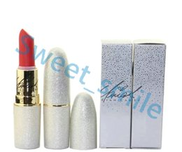 Wholesale Wholesale Brand Name Lipsticks - Newest RIAH CAREY MATTE LIPSTICK Beauty Lipstick Collection 12 English Name colors Brand Lip Makeup With Silver box Free Shipping 5Pcs