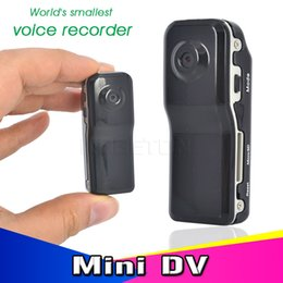 Wholesale Dv Video Light - Wholesale-MD80 Mini DV HD Digital Camera DVR Camcorder Portable 1280*960 Video Recorder Supports Light Cam Bike Motorbike Camera + Holder