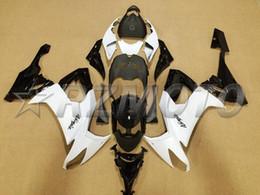 Wholesale Custom Fairings For Motorcycles - New ABS motorcycle bike Fairing Kits Fit For kawasaki Ninja ZX10R ZX-10R 2008 2009 2010 08 09 10 bodywork Set free custom paint black white