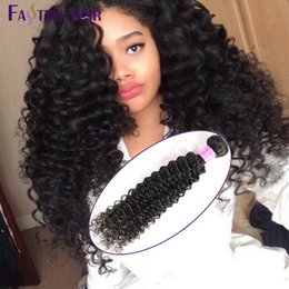 Wholesale Remy Hair Sold Bundles - Hot Selling!Fastyle Malaysian Kinky Deep Curly Extensions 4pc lot Unprocessed Mink Brazilian Peruvian Indian Virgin Human Hair Bundles Cheap