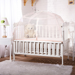 Wholesale Canopies For Beds - Wholesale- baby mosquito net for cribs tent bed outdoor indoor baby canopy folding baby bed crib foldable mosquito net tent folding bed