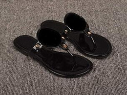 Wholesale Kinds Sandals - kind Genuine Leather Brand New Women Thong Sandals Summer Women Beach Sandals Famous Flip Fllops