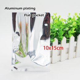 Wholesale plated food - 10*15cm Aluminum plating flat pocket Heat Seal Plating Aluminum Foil Bag Food storage Cosmetics packaging Spot 100   package