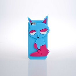 Wholesale Animal Shaped Cases - Cartoon Fox phone case Silicone back cover for iphone with cute animal shaped Factory Direct Wholesale