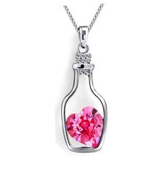 Wholesale Lovely Sweet Heart - 2016 Contracted joker fashionable elegant sweet and lovely Brief paragraph drifting bottle pendant necklace