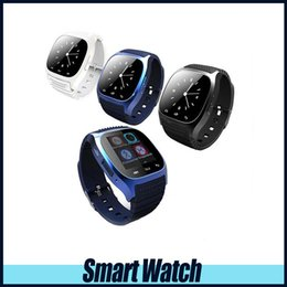 Wholesale Gps Kids Cellphones - Bluetooth Smart Watch M26 Wireless Wearable Device Smart Watch For Samsung Huawei P9 Universal Android Cellphone with Retail Box