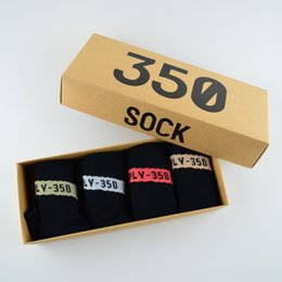 Wholesale Racing Gifts - New Arrival Boost 350 V2 Socks with Box 4 Color SPLY - 350 Men Women Sock Free Size Sports Sock Short Ankle Socks For Family Gift With Box