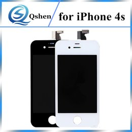 Wholesale iphone 4s assembly - NO Dead Pixel Grade A+++ For iPhone 4G 4S Lcd Screen Display Touch Digitizer with Assembly