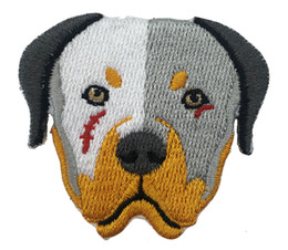 Wholesale Wholesale Embroidered Dog Patches - Cartoon Bull Dog Fantastic Customise Embroidered 100%emb Stitches Patch Use Iron On Jacket, T-shit, Cap and Bag Free Shipping