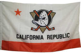 Wholesale Hockey Banner - 3x5 FT Anaheim Ducks Carifornia Republic Hockey Flag Banner with 2 Metal Grommets