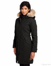 Wholesale Womens Xs Coats Beige - Famous canadians Brand Big Raccoon fur Womens feather Down Jacket Winter Warm kensington parka Ladies Coat -40 degree