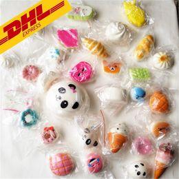 Llavero rosquilla blando online-Nuevo 3D Kawaii Squishy Charm Rilakkuma Donut Cute Phone Straps Bag llavero Charms Slow Rising Squishies Jumbo Buns Pendant