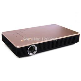 Proyectores de alta luminosidad online-Al por mayor- Nueva DLP WiFi Electronic Zoom 3D Proyector Inteligente de Alto Brillo 7100 lúmenes LED 4K Proyector Full HD Home Theater Proyector HDMI