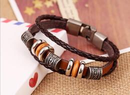 Wholesale China Girls Wear - Latest vintage Women , Men Girls leather Bracelets , Wear beads ,Weave Bracelet ,Jewelry ,gift Z110