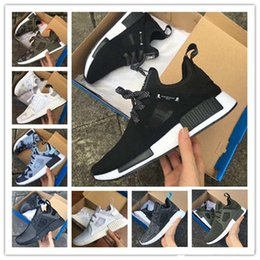 Wholesale Skull Womens - 2017 NMD XR1 III Mens Running Shoes Mastermind Japan Skull Fall Olive green Glitch Black White Blue Camo Pack womens sneakers eur 36-45