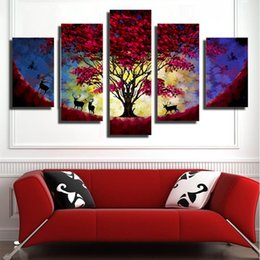 Wholesale Plum Blossom Canvas Art - The plum blossom Artwork Wall flower Landscape ink Painting On Canvas Modern Painting Home Decor Wall Art