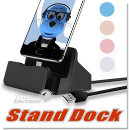 Wholesale Universal Tablet Charging Station - Micro USB Charging Dock Station Cradle Docking Stand Charger for iphone 5 5s 6 6s 7 Plus Android Type C Mobile Phone Tablet with retail pack