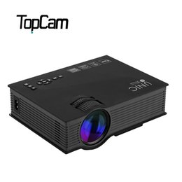 Wholesale banks education - Wholesale-Portable UNIC UC46 Full HD Multimedia Projector USB SD AV HDMI Projector Pico LED Home Cinema Proyector Emergency Power Bank