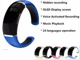 2019 mp3 браслет 4GB браслет дизайн мини-диктофоны поддержка MP3 играть 1536KBPS PCM записи дешево mp3 браслет