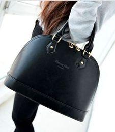 Wholesale Large Black Leather Hobo - Fashion New OL Hobo Lady's Shell bag handbag PU Leather Soft Large Shoulder Bag