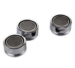 Wholesale nozzle swivel - Wholesale- D24mm Male Thread Water Bubbler Swivel Head Saving Tap Faucet Aerator Connector Diffuser Nozzle Filter Mesh Adapter