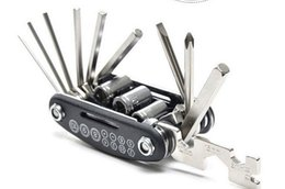 Wholesale Bike Care - 16 in 1 Multifunctional Portable Bicycle Multi Repairing Tool bike Maintenance 16 tools Bolt driver Hexagon wrench Daily home care Gift