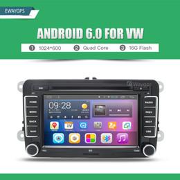 Wholesale Dvd For Vw Jetta - Quad Core Android 6.0 Car DVD GPS Navigation For Volkswagen VW PASSAT TIGUAN GOLF Polo Jetta MAGOTAN BORA CADDY TOURAN EW842P6QH