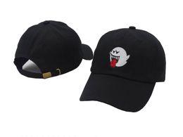 Wholesale Boo Mario - New 2017 distressed Boo Mario Ghost black cowboy bad hiss Mario Ghost dad hat hip-hop bone gorras baseball caps snapback hats for men women