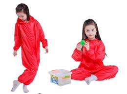 2019 niños de pintura de arena Juego de traje de ducha con capucha para niños Pintura Overal para bebés, niños, niñas, abrigo para jugar en la arena 2-7T niños de pintura de arena baratos