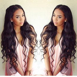 Wholesale Brazillian Hair Lace Wigs - 9A Best Lace Front Human Hair Wigs Glueless Full Lace Wigs 100% Brazillian Virgin Human Hair Body Wave Wavy Wigs For Black Women