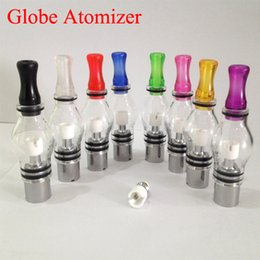 Wholesale Dry Herb Atomizer For Ego - Cheap Rich Styles Coils Glass Globe Atomizer Dry Herb Vaporizer Replacement Wax Vapor Tank with Metal Ceramic Coil Heads For EGO E Cigarette