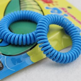 Wholesale Child Baby Telephone - Mosquito Repellent Bracelet Stretchable Elastic Coil Spiral Hand Wrist Band Telephone Ring Bedroom Anti Mosquito Bracelet Baby Children