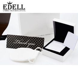 Wholesale Leather Pendant Box - EDELL Hot Fashion Jewelry Set Box Fits For European Style Bracelet Bangle Charm Bead & Pendants Sets Box Jewelry Packaging