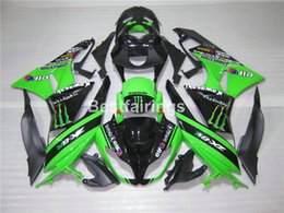 Wholesale Green Kit Fairing - Motorcycle fairing kit for Kawasaki Ninja ZX6R 09 10 green black bodywork fairings set ZX6R 2009 2010 GT05