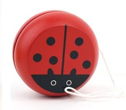 Wholesale Wooden Props - Red Cute animal yo-yo toys Bearing Professional Yoyo Toys wood High Precision Game Special Props diabolo juggling