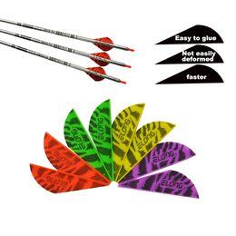 Wholesale Plastic Diy Bow - Archery Arrow Vane in Bow & Arrow Plastic Tiger pattern 2 inch & 3 inch Streamline for Archers DIY Vanes