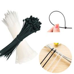 Wholesale Wire Zip Ties - 100pcs set Plastic Cable Zip Tie Fasten Wrap 100mm x 3mm Nylon Plastic Cable Wire Organiser Zip Tie Cord Strap V4318