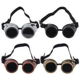 Wholesale Gothic Victorian Fashion - Wholesale-New Arrivals 2016 Fashion Stylish Cyber Goggles Steampunk Glasses Vintage Retro Welding Punk Gothic Victorian eye Protection