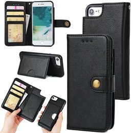 Wholesale Leather Protective Case For Huawei - 2 In 1 Magnetic Detachable Wallet Case PU Leather Protective For iPhone X 8 7 6s plus Samsung s8 s7 Huawei P9 OPPBAG