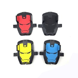 Wholesale Iron Man Colors Flexible Mobile Phone Holder Stand Universal Cellphone Car Mount Holder Windshield Desktop Bracket for iPhone Samsung