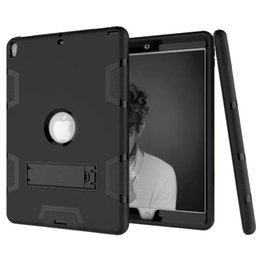 Wholesale ipad mini hard cases - Three Layer Armor Defender Full-body Rugged Cute Slim Hard Protective Case Cover for Apple iPad Min 1 2 3 4 5 6 Air Pro 9.7 10.5 with Stand