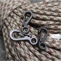 Wholesale Paracord Carabiner - Mini D-Shape Buckle Carabiners Metal Clips Pack These Micro Hooks are the Perfect Survival EDC for Using Paracord to Hold your Gear B107Q