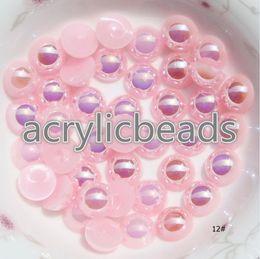 Wholesale Arts Crafts Pearls - 1000pcs Factory Price Plastic 5MM Loose Half Imitation Pearl Beads Nail Art Scrapbooking Embellishment Craft DIY