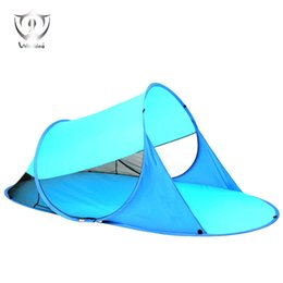 Wholesale Pop People - Wholesale- 2-3 People Outdoor Beach Tent Sun Shelters Pop Up Seaside Awning Instant Portable Outdoor Large Anti-UV ZH8-311