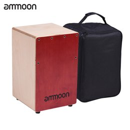 Wholesale Birch Woods - Wholesale- ammoon Children Kids Wooden Cajon Box Drum Hand Drum Persussion Instrument Birch Wood with Adjustable Strings Carrying Bag