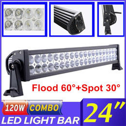Wholesale Waterproof Atv Offroad Lights - 22 inch 120W Car Led Light Bar Combo Beam Offroad Work Light for Car Truck UTE ATV Boat Jeep Tractor 4WD 4X4 Driving Lamp 10-30V Waterproof