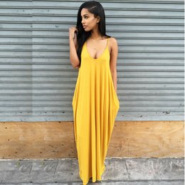 Wholesale Girl Sexy Loose Dress - Wholesale- Plus Large Size XL Loose Sexy Party Beach Casual Office Boho Girl Long Dress 2017 Summer Bodycon Clothing Women's Dresses 204
