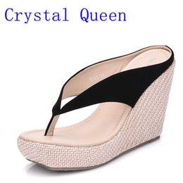 Kristall Königin Lässige Mode Sandalen Schuhe Strand Frauen Sandalen Böhmen Wedges Flip Flops Dame Hausschuhe Frauen Sommer Stil Schuhe von Fabrikanten